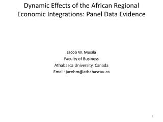 Dynamic Effects of the African Regional Economic Integrations: Panel Data Evidence