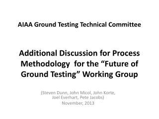 (Steven Dunn, John Micol, John Korte, Joel Everhart, Pete Jacobs) November, 2013