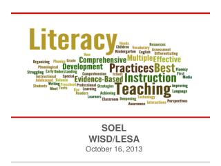 SOEL   WISD/LESA October 16, 2013