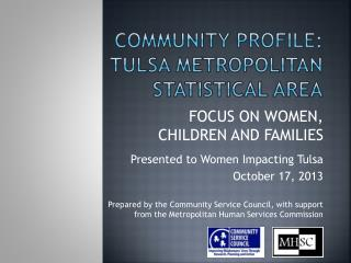 Community Profile:  Tulsa metropolitan statistical area