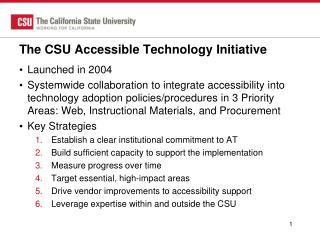 The CSU Accessible Technology Initiative