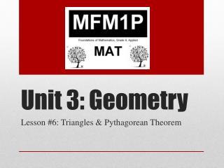 Unit 3: Geometry