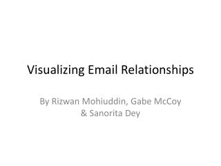 Visualizing Email Relationships
