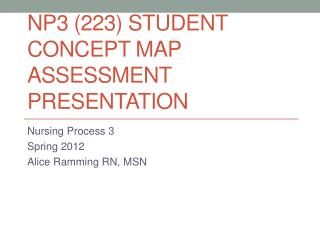 NP3 (223) STUDENT CONCEPT MAP ASSESSMENT PRESENTATION