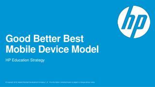 Good Better Best  Mobile Device Model