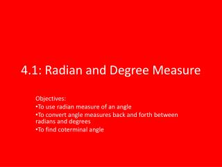4.1: Radian and Degree Measure