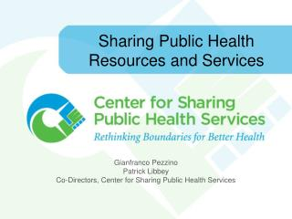 Sharing Public Health Resources and Services