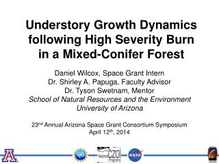 Understory  Growth Dynamics following High Severity Burn  in  a  Mixed-Conifer Forest