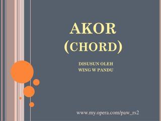 AKOR (chord)