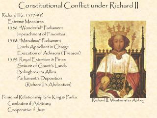 Constitutional Conflict under Richard II