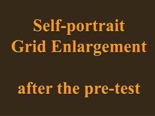 Self-portrait Grid  Enlargement after the pre-test