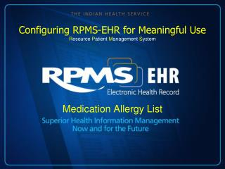 Medication Allergy List