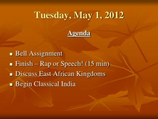 Tuesday, May 1, 2012