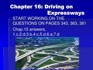 Driving on Expressways