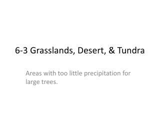 6-3 Grasslands, Desert, & Tundra