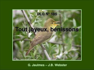 DLG N° 185 Tout joyeux, bénissons