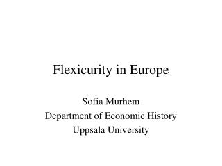 Flexicurity in Europe