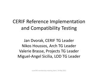 CERIF Reference Implementation