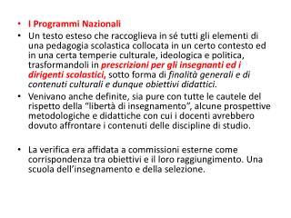 I Programmi Nazionali