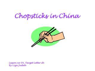 Chopsticks in China