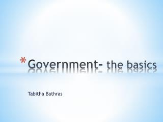 Government-  the basics