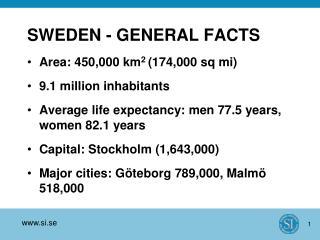 SWEDEN - GENERAL FACTS