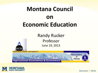 Montana Council  on  Economic Education