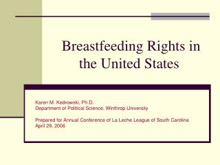 Breastfeeding Rights in the United States