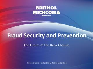 Fraud Security and Prevention