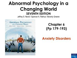 Chapter 6 (Pp 179-193) Anxiety Disorders