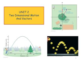 UNIT 2 Two Dimensional Motion And Vectors