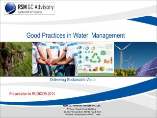 RSM GC Advisory Services Pvt. Ltd.  5 th  floor, Great Social Building