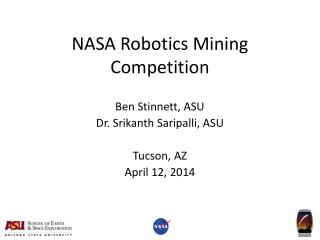 NASA Robotics Mining Competition
