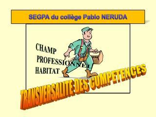 TRANSVERSALITE DES COMPETENCES