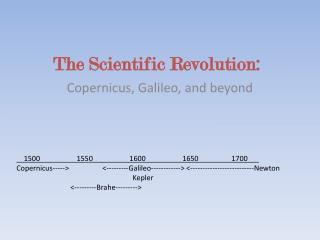 The Scientific Revolution: