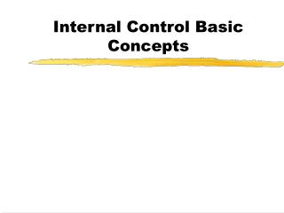 Internal Control Basic Concepts