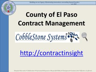 County of El Paso Contract Management