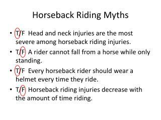 Horseback Riding Myths