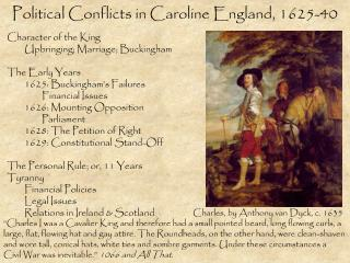 Political Conflicts in Caroline England, 1625-40