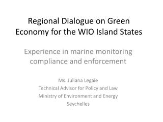 Regional Dialogue on Green Economy for the WIO Island States