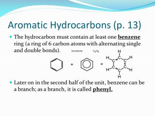 Aromatic Hydrocarbons (p.  13)