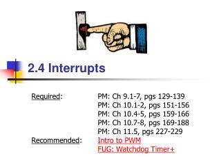 2.4  Interrupts
