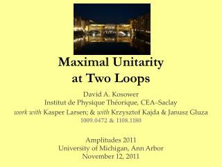 Maximal  Unitarity at Two Loops