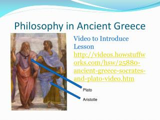 Philosophy in Ancient Greece