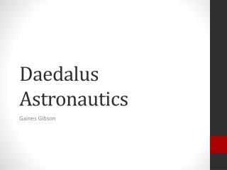 Daedalus Astronautics