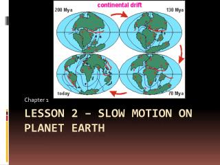 Lesson 2 – Slow Motion on Planet Earth