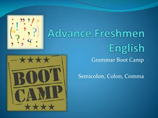 Advance Freshmen English