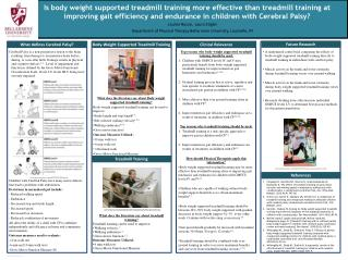 Children with Cerebral Palsy have many motor deficits that lead to problems with ambulation.