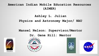 American Indian Mobile Education Resources (AIMER)