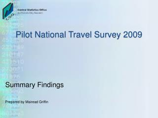 Pilot National Travel Survey 2009